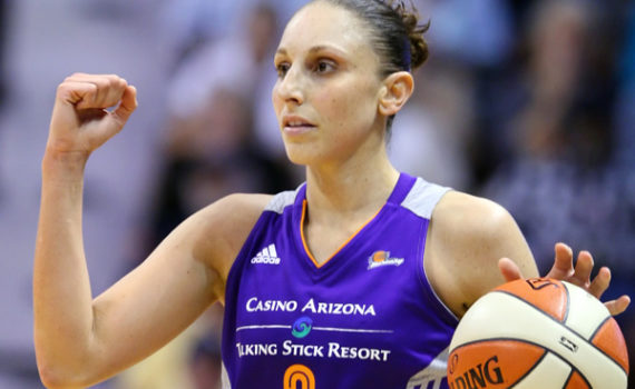 Image #: 30073675    June 13, 2014 - Uncasville, Connecticut, United States - June 12, 2014: Phoenix Mercury guard Diana Taurasi (3) in action during the WNBA basketball game between the Connecticut Sun and Phoenix Mercury at Mohegan Sun Arena. Connecticut defeated Phoenix 96-95. Anthony Nesmith/CSM     CSM /Landov