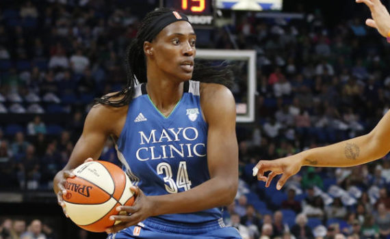 Minnesota Lynx's Sylvia Fowles plays against the Los Angeles Sparks in Game 2 of the WNBA basketball finals Tuesday, Oct. 11, 2016, in Minneapolis. (AP Photo/Jim Mone)