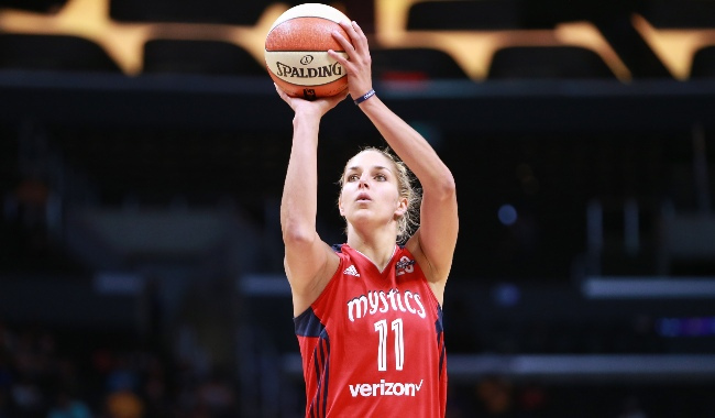 during a WNBA basketball game at Staples Center on July 2, 2017 in Los Angeles, California.